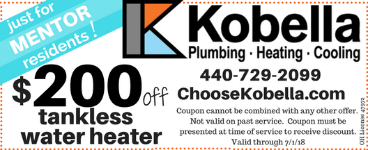 $200 off tankless water heater in Mentor, OH